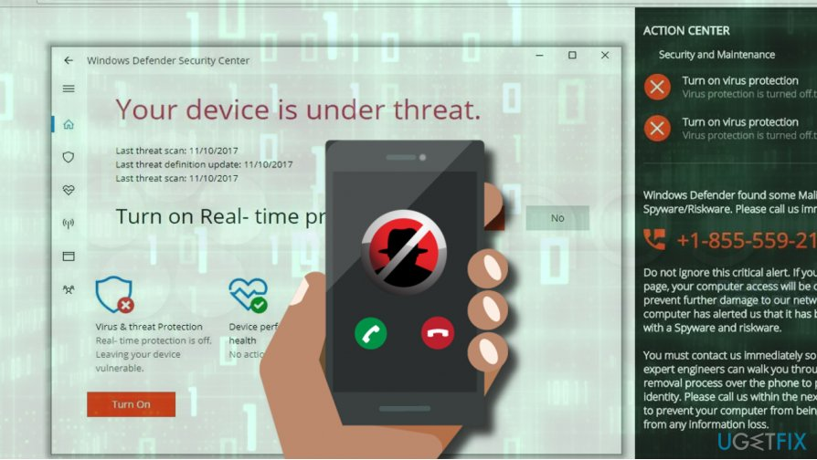"""Your device is under threat"" scam removal"