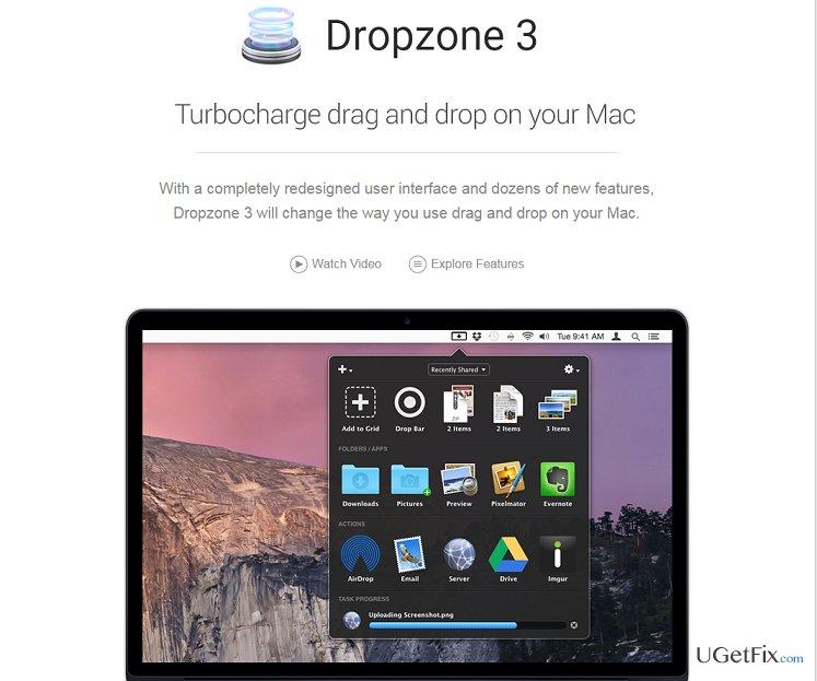 Dropzone snapshot