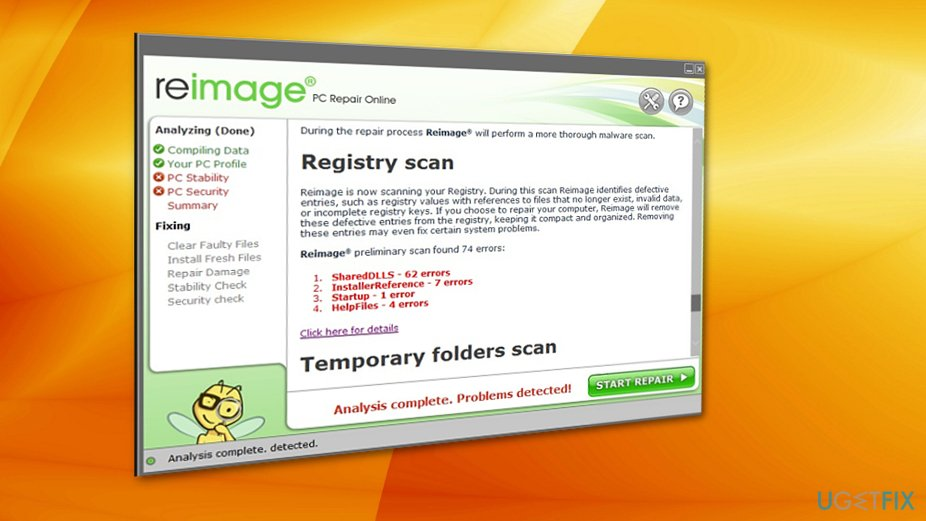 Reimage scan process does not take long
