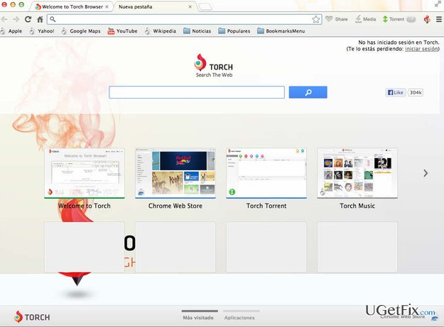 Torch Browser snapshot